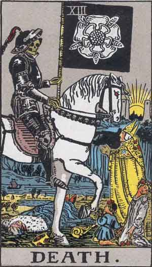 The Angel of Death, as depicted on a 1909 Tarot card