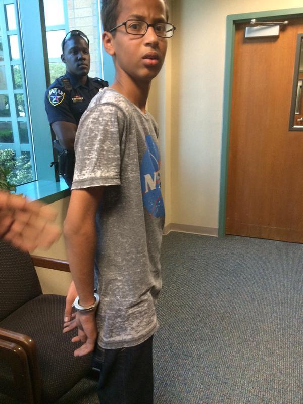 Ahmed, under arrest