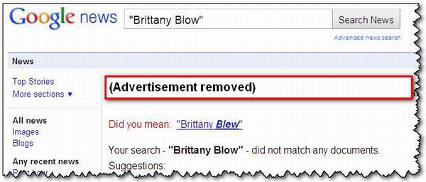 No, I didn't mean Brittany Blew