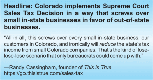 Colorado Screws Over Small Businesses like <i>This is True</i>