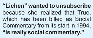 Lichen's complaint.