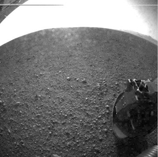 Curiosity's First Clear Image