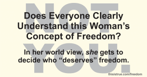 """Who """"Deserves"""" Freedom?"""