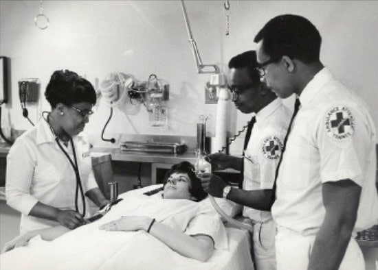 Freedom House members training in-hospital.