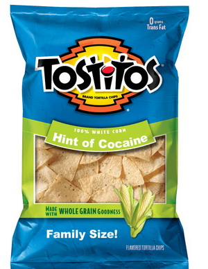 Tostitos 'Hint of Cocaine' flavor