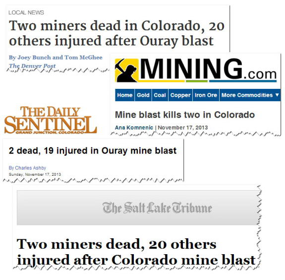 A few of the news headlines showing the pattern.
