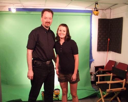 Randy Cassingham and TRUE video host Katie Bevard