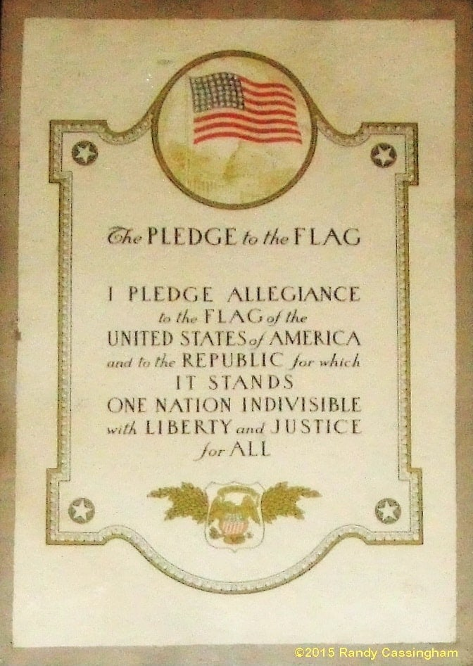 The Pledge's wording from 1924 to 1954: Click to see even larger