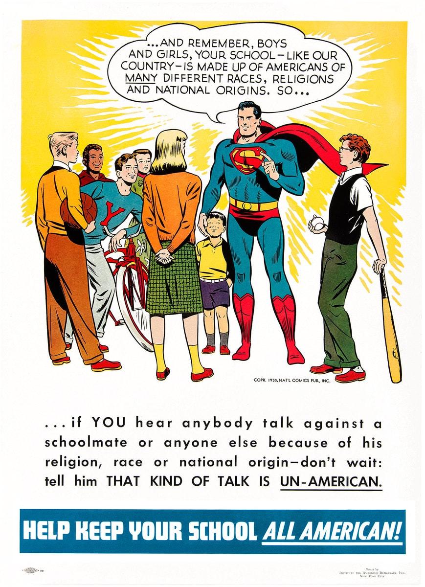 Superman school poster
