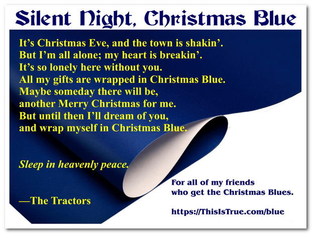 christmas blue - 12 Redneck Days Of Christmas Lyrics
