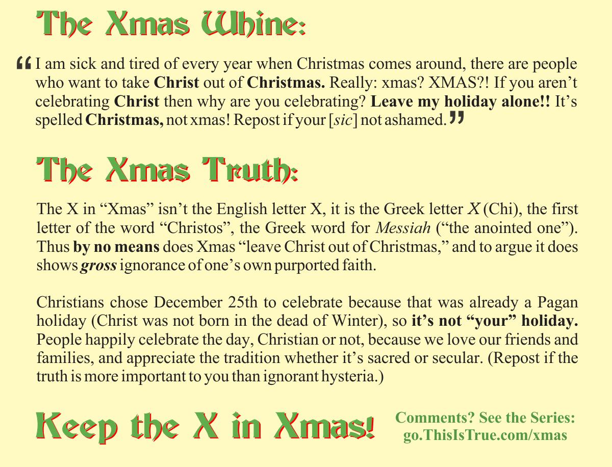xmas truth - Keep the X in Xmas